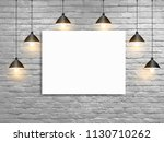 vector mock up poster with... | Shutterstock .eps vector #1130710262