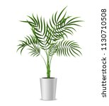 realistic detailed 3d potted... | Shutterstock .eps vector #1130710508