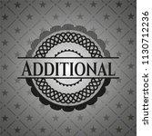 additional black badge | Shutterstock .eps vector #1130712236