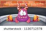 fanny  cute roller skate... | Shutterstock .eps vector #1130712578