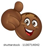 african emoticon showing thumb... | Shutterstock .eps vector #1130714042