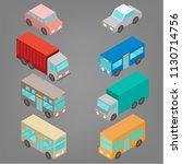 set of isometric automobile...   Shutterstock .eps vector #1130714756