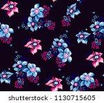 flowers pattern floral bouquets ... | Shutterstock .eps vector #1130715605