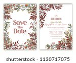 floral hand drawn frame for a... | Shutterstock .eps vector #1130717075