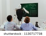 schools of future. smart self... | Shutterstock . vector #1130717738