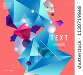 color abstract pattern... | Shutterstock .eps vector #1130719868