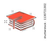 cartoon education and book icon ... | Shutterstock .eps vector #1130721302