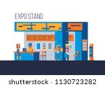promotional stands or... | Shutterstock .eps vector #1130723282