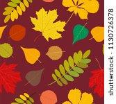 seamless autumn pattern orange  ... | Shutterstock .eps vector #1130726378