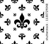 fleur de lis seamless pattern ... | Shutterstock .eps vector #1130729048