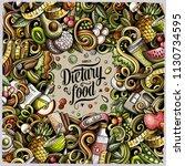 cartoon vector doodles diet... | Shutterstock .eps vector #1130734595