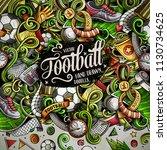 cartoon vector doodles soccer...   Shutterstock .eps vector #1130734625