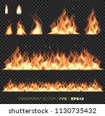 collection of realistic fire... | Shutterstock .eps vector #1130735432