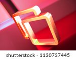 clone icon on the red geometric ... | Shutterstock . vector #1130737445