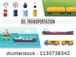 flat oil industry elements set... | Shutterstock .eps vector #1130738342