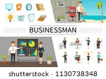 flat business people concept... | Shutterstock .eps vector #1130738348