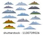 different  cartoon mountains... | Shutterstock .eps vector #1130739026