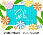 summer time beach vacation...   Shutterstock .eps vector #1130739035