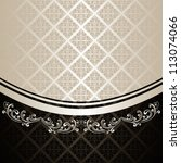 luxury background decorated a... | Shutterstock .eps vector #113074066