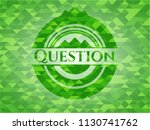 question realistic green mosaic ... | Shutterstock .eps vector #1130741762