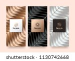 vector set packaging templates... | Shutterstock .eps vector #1130742668