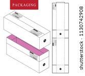 packaging for shipping.zise 30... | Shutterstock .eps vector #1130742908