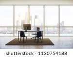 modern penthouse office with...   Shutterstock . vector #1130754188