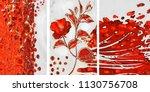 collection of designer oil... | Shutterstock . vector #1130756708