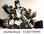 young people having business... | Shutterstock . vector #1130774495