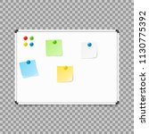empty whiteboard. magnetic... | Shutterstock .eps vector #1130775392