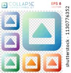 collapse geometric polygonal... | Shutterstock .eps vector #1130776352