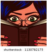 pop art comic book style... | Shutterstock .eps vector #1130782175