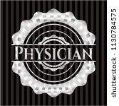 physician silver emblem or badge | Shutterstock .eps vector #1130784575