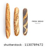 creative layout made of breads... | Shutterstock . vector #1130789672
