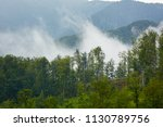 landscape with clouds and mist... | Shutterstock . vector #1130789756