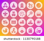 baby toy icons set. web sign... | Shutterstock .eps vector #1130790188