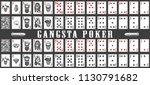 deck of gangsta playing cards.... | Shutterstock .eps vector #1130791682