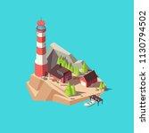 Isometric Lighthouse. Island...