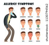 allergy symptoms with sneezing... | Shutterstock .eps vector #1130794562
