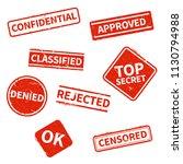 top secret  rejected  approved  ... | Shutterstock .eps vector #1130794988