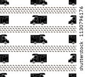 seamless pattern with black car ... | Shutterstock .eps vector #1130796176