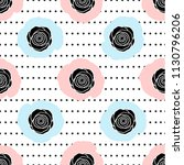 seamless pattern with black... | Shutterstock .eps vector #1130796206