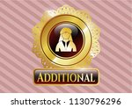 gold emblem or badge with... | Shutterstock .eps vector #1130796296