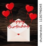 letters of happy birthday on... | Shutterstock .eps vector #1130798345