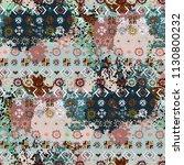 ethnic boho seamless pattern.... | Shutterstock .eps vector #1130800232