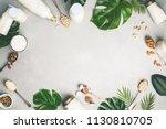 dairy free milk substitute... | Shutterstock . vector #1130810705