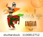 indian independence day vector... | Shutterstock .eps vector #1130812712