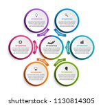abstract options infographics... | Shutterstock .eps vector #1130814305