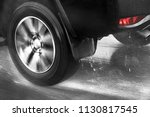 detail of the rear wheel of a... | Shutterstock . vector #1130817545