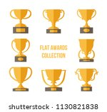 golden champion trophies... | Shutterstock .eps vector #1130821838